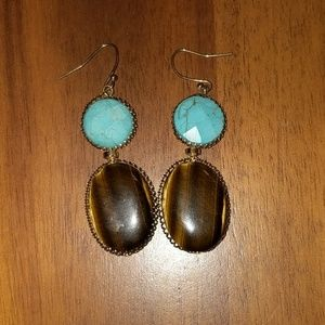 Jewelry - Tigers Eye and Turquoise Earrings